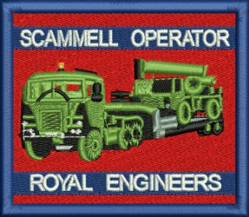 Scammell Operator Embroidered Badge